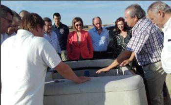 La directora general de Desarrollo Rural y Política Forestal visita las obras de modernización de los regadíos del Canal de Almazán, Soria