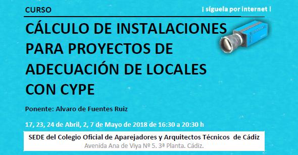 C.O.A.A.T. : Curso Cálculo de instalaciones para proyectos de adecuación de locales con CYPE