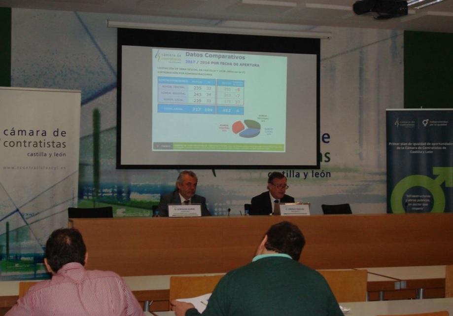 La Cámara de Contratistas de Castilla y León presenta los datos de Licitación de Obra Pública en la Región, correspondientes al ejercicio 2017